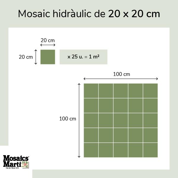 Mosaic de 20 x 20 cm - Mosaics Martí