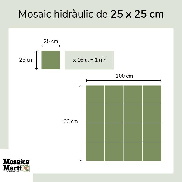 Mosaic de 25 x 25 cm - Mosaics Martí