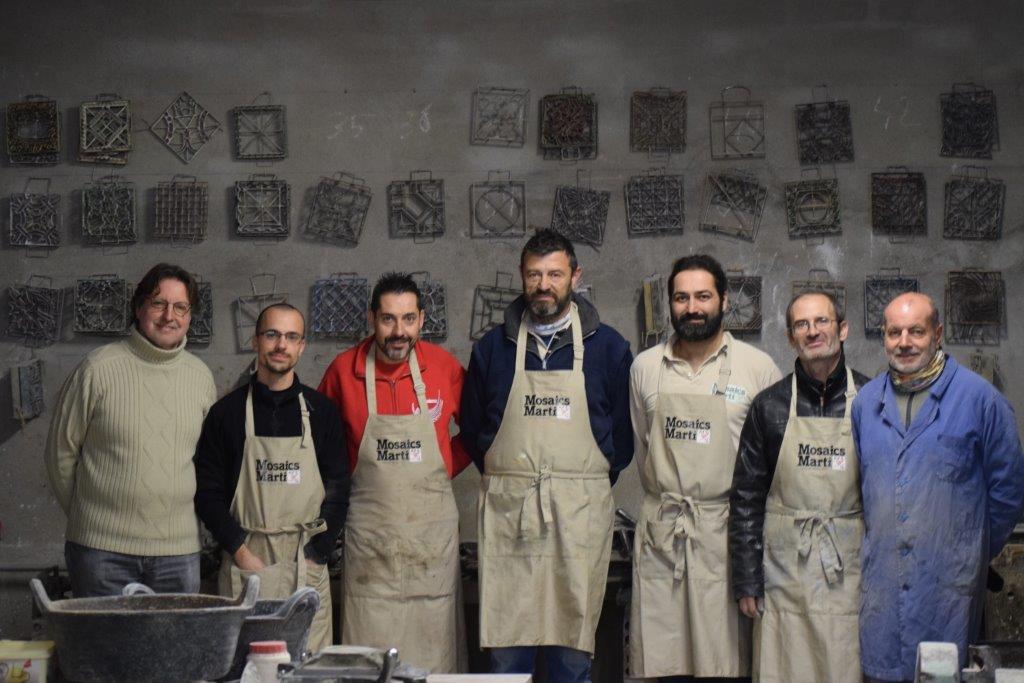 Equip taller - Mosaics Martí Media